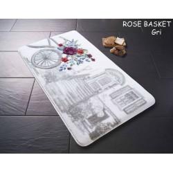 Набор ковриков для ванной Confetti - Rose basket 01 серый 57*100+50*57 см.