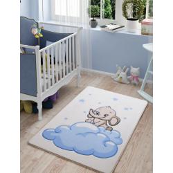 Ковер в детскую комнату Confetti - Baby Elephant 01 голубой 100*150