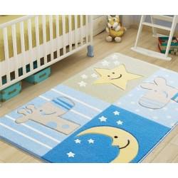Ковер в детскую комнату Confetti - Sleepy голубой 100*150