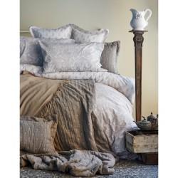 Набор постельного белья с покрывалом + плед Karaca Home 2017-1 - Pureline beige евро