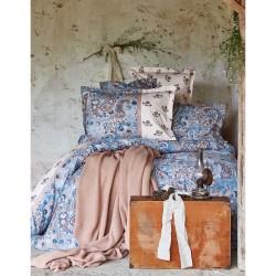 Набор постельного белья + плед Karaca Home 2017-1 - Mandila blue евро