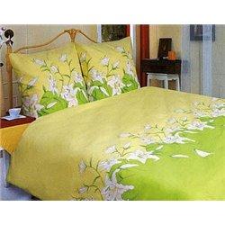 Постельное белье ТЕП - Лилия зеленая 658 бязь полуторное