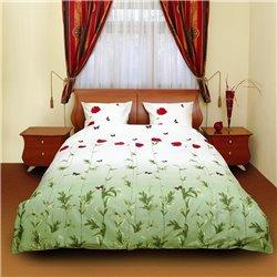 Комплект постельного белья ТЕП - Маки зеленые с бабочками 533 бязь евро