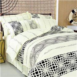 Комплект постельного белья ТЕП - Графика 602 бязь евро