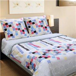 Комплект постельного белья ТЕП - Мозаика 917 бязь евро