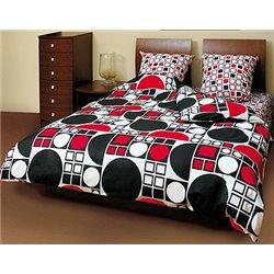 Постельное белье ТЕП - Круг черно-красный 531 бязь семейное