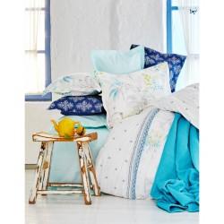 Набор постельное белье с покрывалом + пике Karaca Home - Casimiro 2017-1 евро