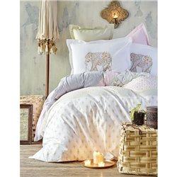Постельное белье Karaca Home - Monifa 2017-1 розовый пике 220*230 евро