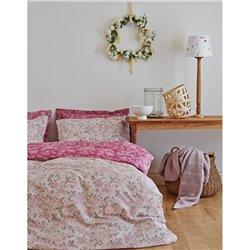 Постельное белье Karaca Home - Firuze розовое сатин евро