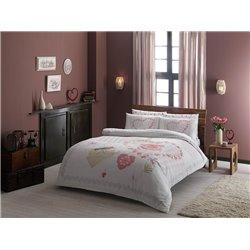 Постельное белье Тас ранфорс Alice розовое полуторное
