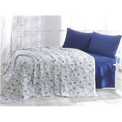 Постельное белье пике Marie Сlaire - Jasmine синее евро