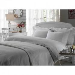 Набор постельное белье жаккардовый сатин с покрывалом и полотенцами Tac - Carmelina ekru евро