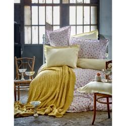 Набор постельного белья + плед Karaca Home 2017-1 - Freya green евро