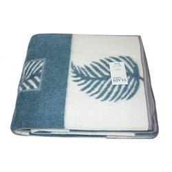 Жаккардовое шерстяное одеяло Vladi Лист 170х210 двуспальное