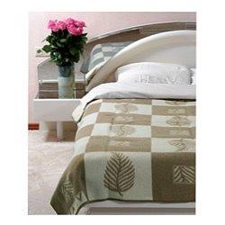 Жаккардовое шерстяное одеяло Vladi Лист 200х220 евро