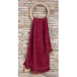 Полотенце махровое Buldans - Selcuk burgundy 90*150