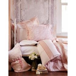 Набор постельного белья с покрывалом + плед Karaca Home 2017-1 - Timeless best pudra евро