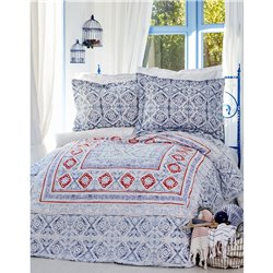 Постельное белье Karaca Home - Savior 2017-2 blue пике 220*230 евро