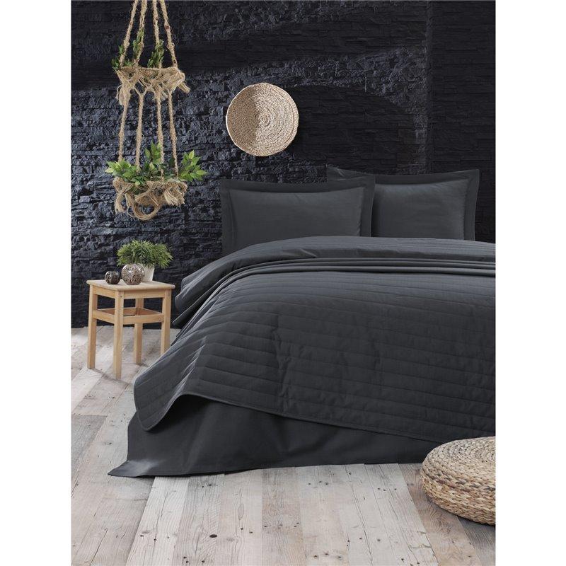 Покрывало стеганое Eponj Home - Monart fume темно-серый 220*240