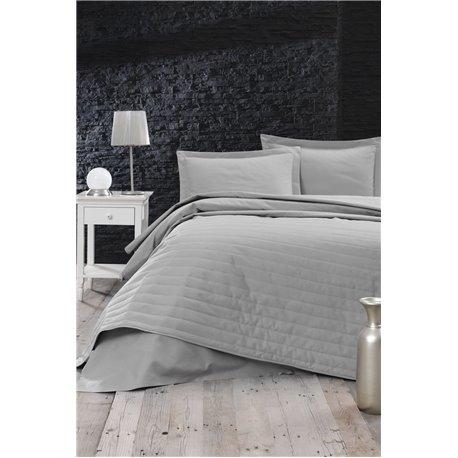 Покрывало стеганое Eponj Home - Monart gri серый 220*240