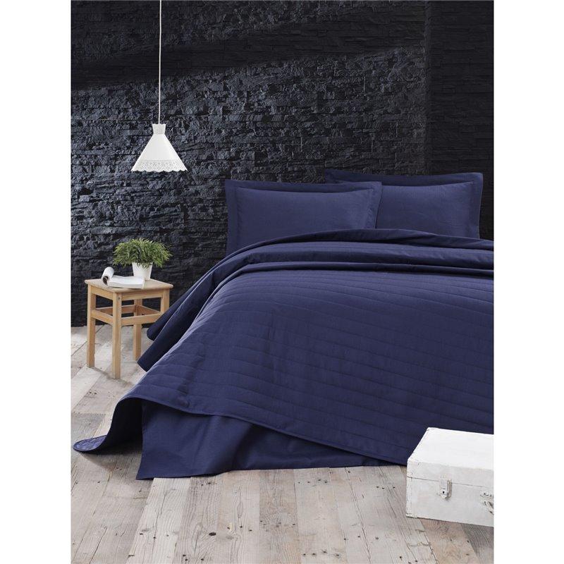 Покрывало стеганое Eponj Home - Monart lacivert синий 220*240