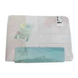 Детское одеяло хлопковое жаккардовое Vladi - 100*140 Барни бело-розовое