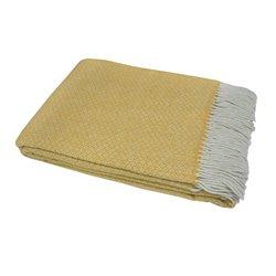 Плед шерстяной Vladi - Метро 1S бело-желтый 200*220 евро