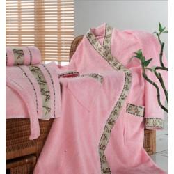 """Халаты """"Mariposa"""" бамбук 100%  короткий с капюшоном  m007252"""